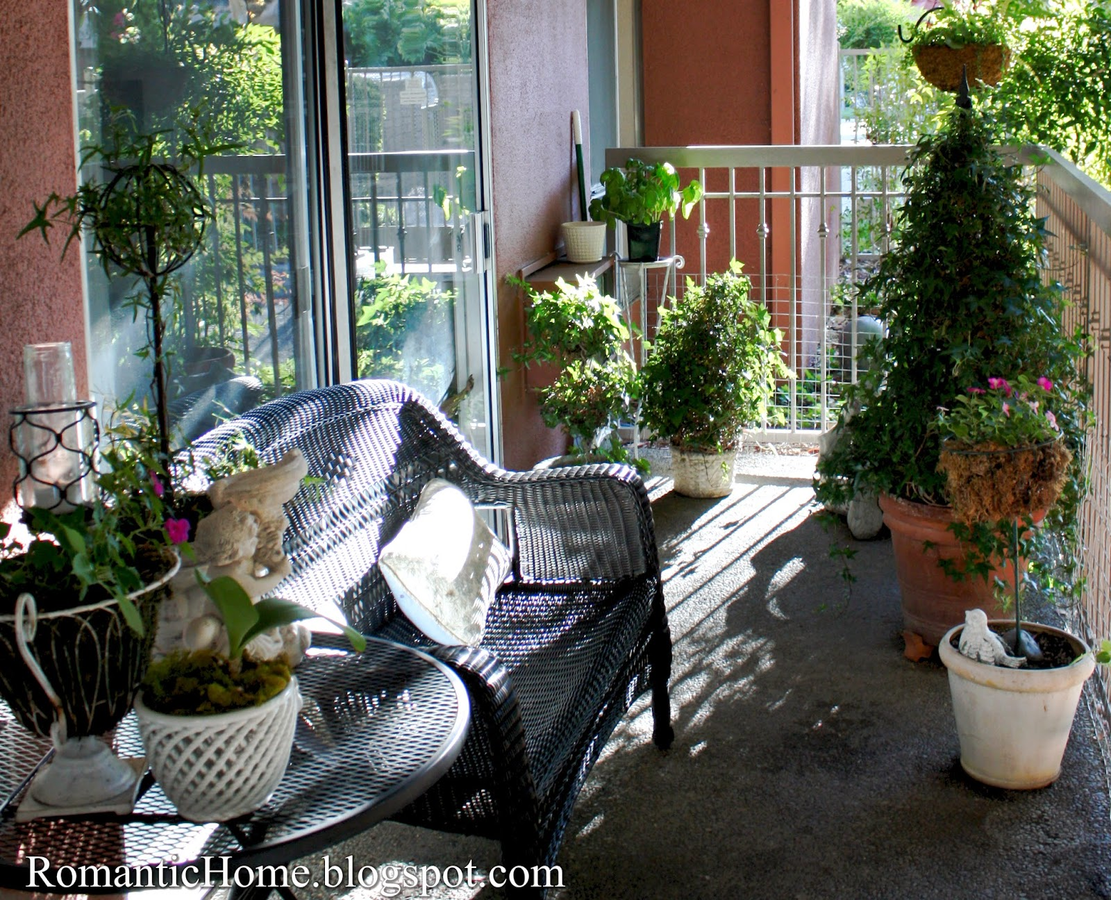 My Romantic Home My Little Apartment Patio Show and Tell Friday