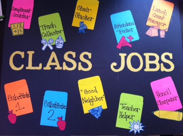 Classroom Ideas For Nqt : Stefanie s journey into teaching class job chart