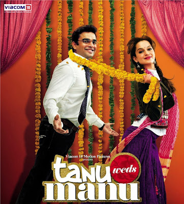 Poster Of Bollywood Movie Tanu Weds Manu (2011) 300MB Compressed Small Size Pc Movie Free Download worldfree4u.com
