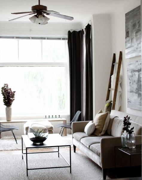 Confecci n cortinas negras para habitaciones blancas - Cortinas negras decoracion ...