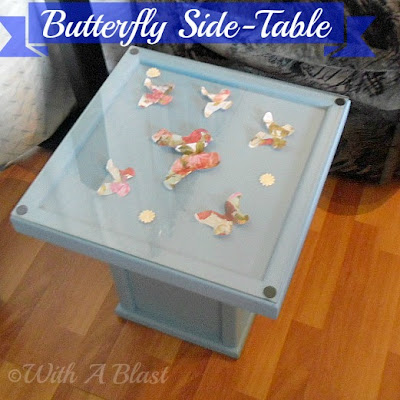 With A Blast: DIY 3D Butterfly Side-Table      #diy   #crafts   #furniturepainting