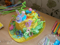 easter bonnet making handmade at home for boys and girls with pipe cleaners