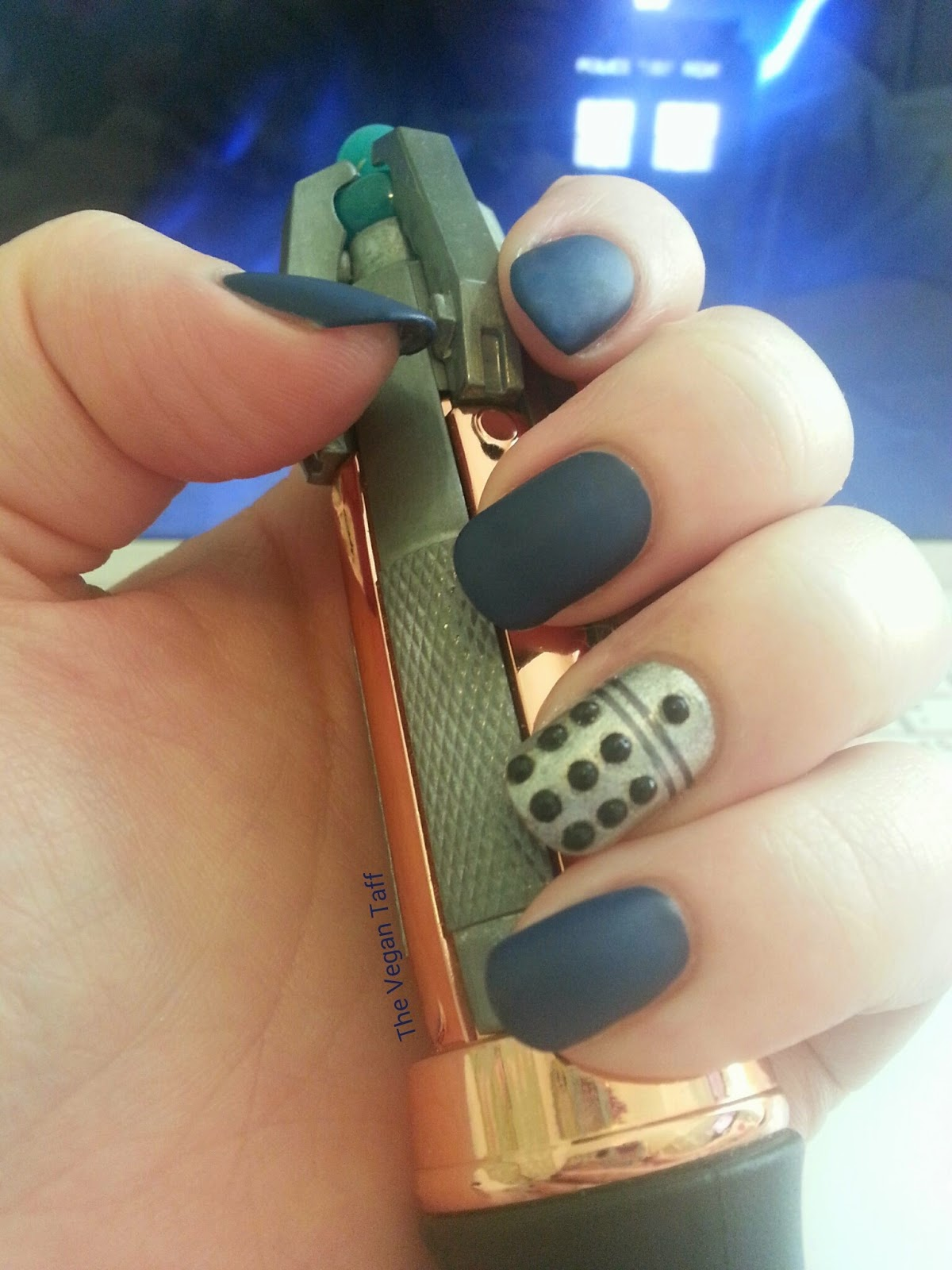 Manicure Monday | Doctor Who Nails | The Vegan Taff