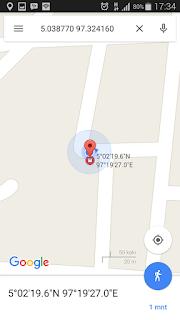 Cara menggunakan titik koordinat di Google Maps