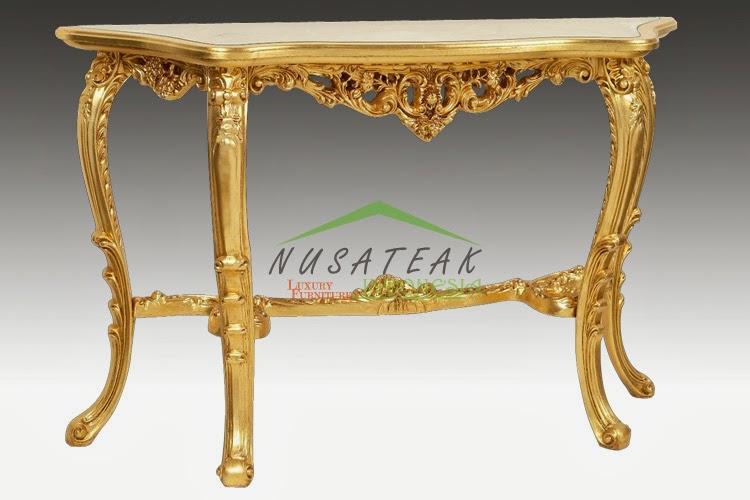 Vino Gold Baroque Console Table