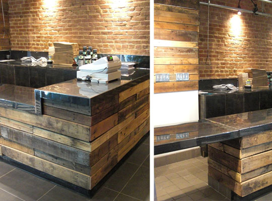 Pallet countertop on pinterest pallet counter pallet kitchen island and epoxy countertop - Wall bar counter ...