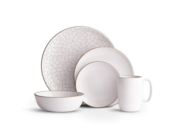 white ceramic set of plates