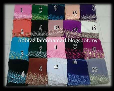 Telekung Lycra Double Lace