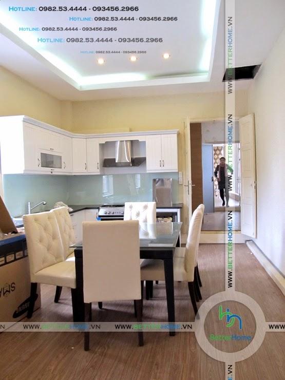 Thiết kế phòng bếp chung cư Mandarin Garden