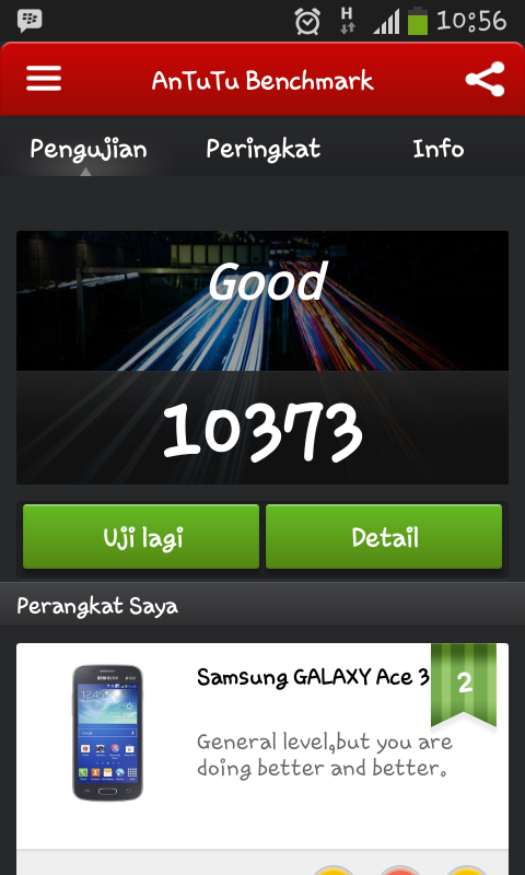 Tes Asli apa palsu Antutu Benchmark Galaxy Ace 3