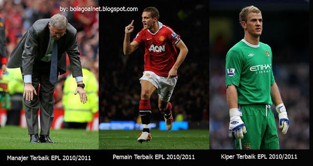 Inilah Manjer, Pemain dan Penjaga Gawang Terbaik English Premier League Musim 2010/11