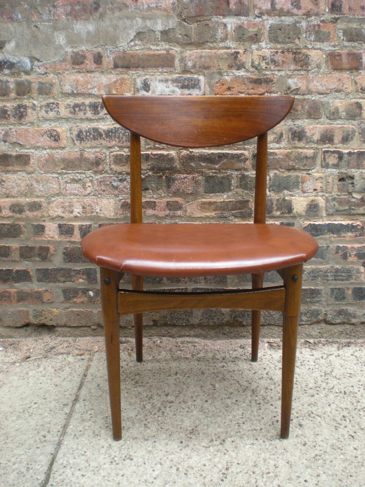 Mid Century Modern Wood Chair ~ Mid century chicago danish modern wooden chair