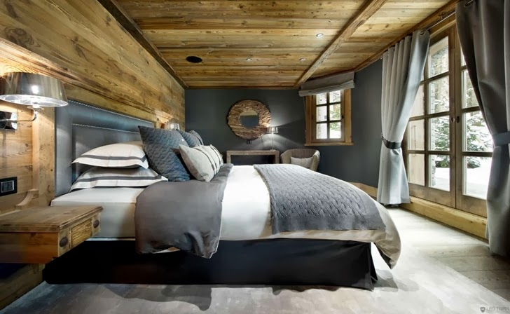 Luxury wooden bedroom