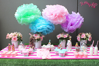 Dessert and candy bar for parties