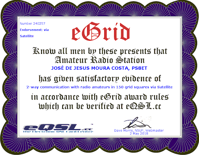 Certificado 150 Grids eQSL