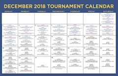 December Tournament Calendar