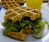 Waffles de Farinha de Grão-de-Bico (vegana)