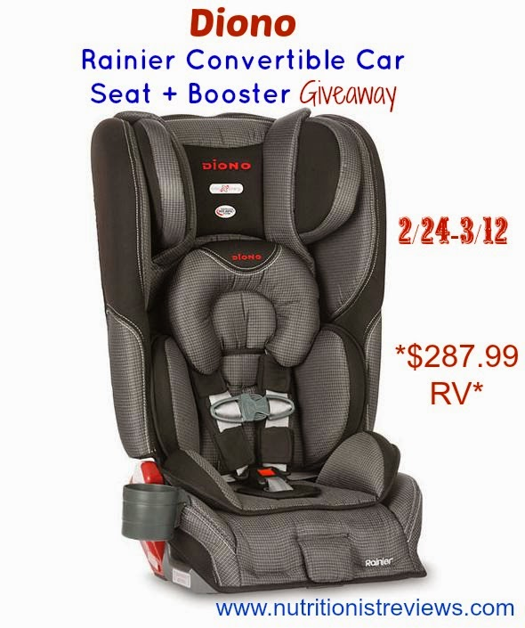 diono rainier car seat giveaway the nutritionist reviews. Black Bedroom Furniture Sets. Home Design Ideas