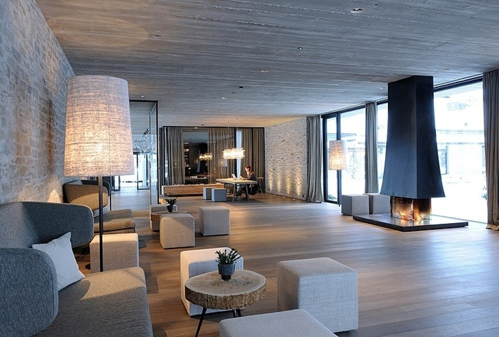 Modern lobby in Boutique Hotel, Austria