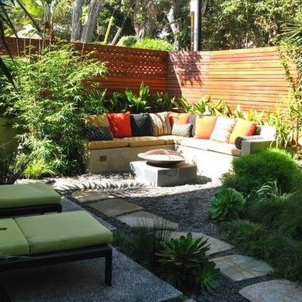 Bricolage e decora o v rias ideias para terra os ou for Decoracion patios pequenos