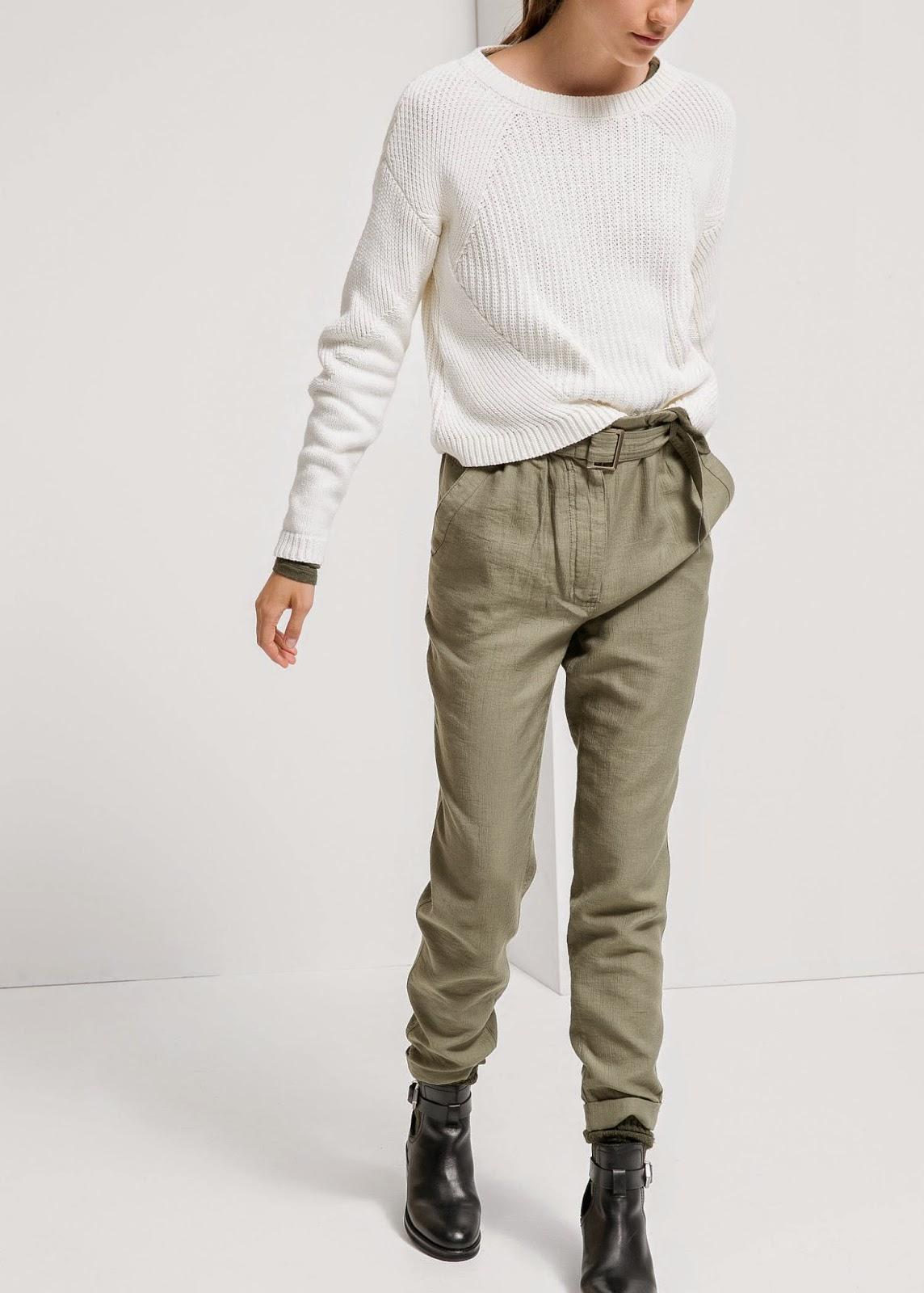 mango khaki trousers