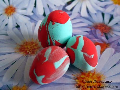 лепленые яйца к пасхе