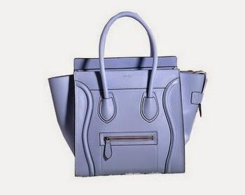 replica celine luggage micro patent leather boston bag blue 3307