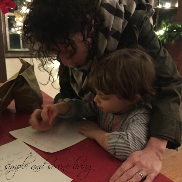 child letter Santa
