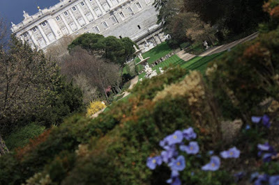 Campo del Moro and Royal Palace in Madrid