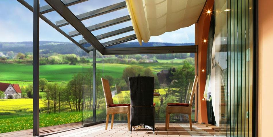Decoraci n de una terraza con cortinas de cristal - Terraza de cristal ...