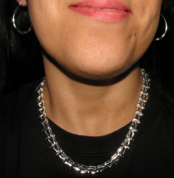 Silver chain necklace & Earrings from Bellast