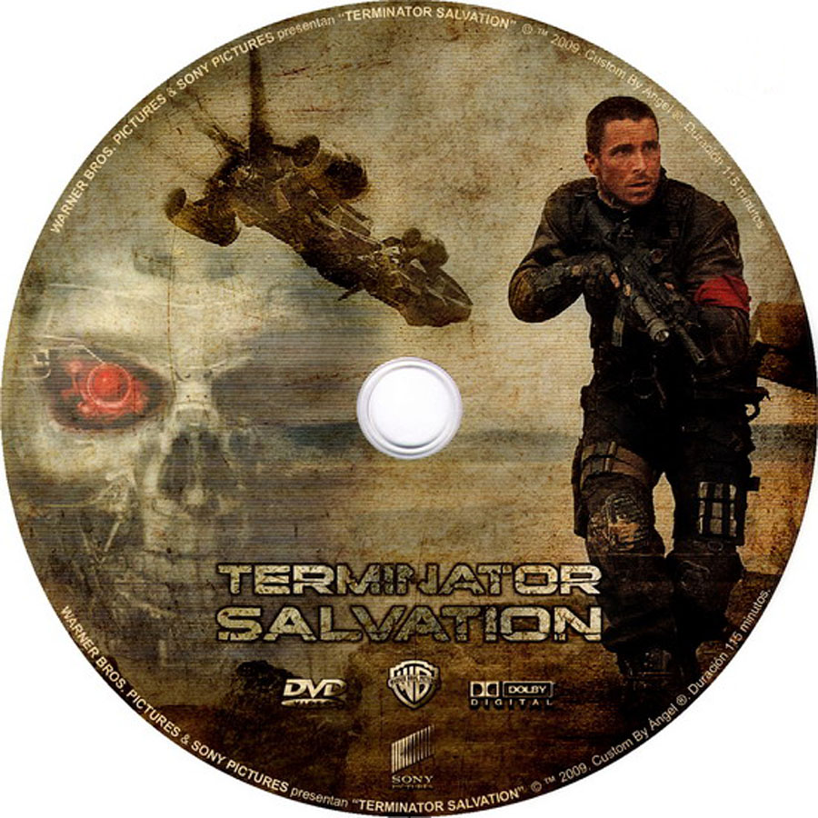 Terminator Salvation Movie DVD Label Art