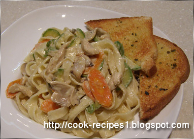 Cook Recipes: Pasta Fettuccine with Chicken
