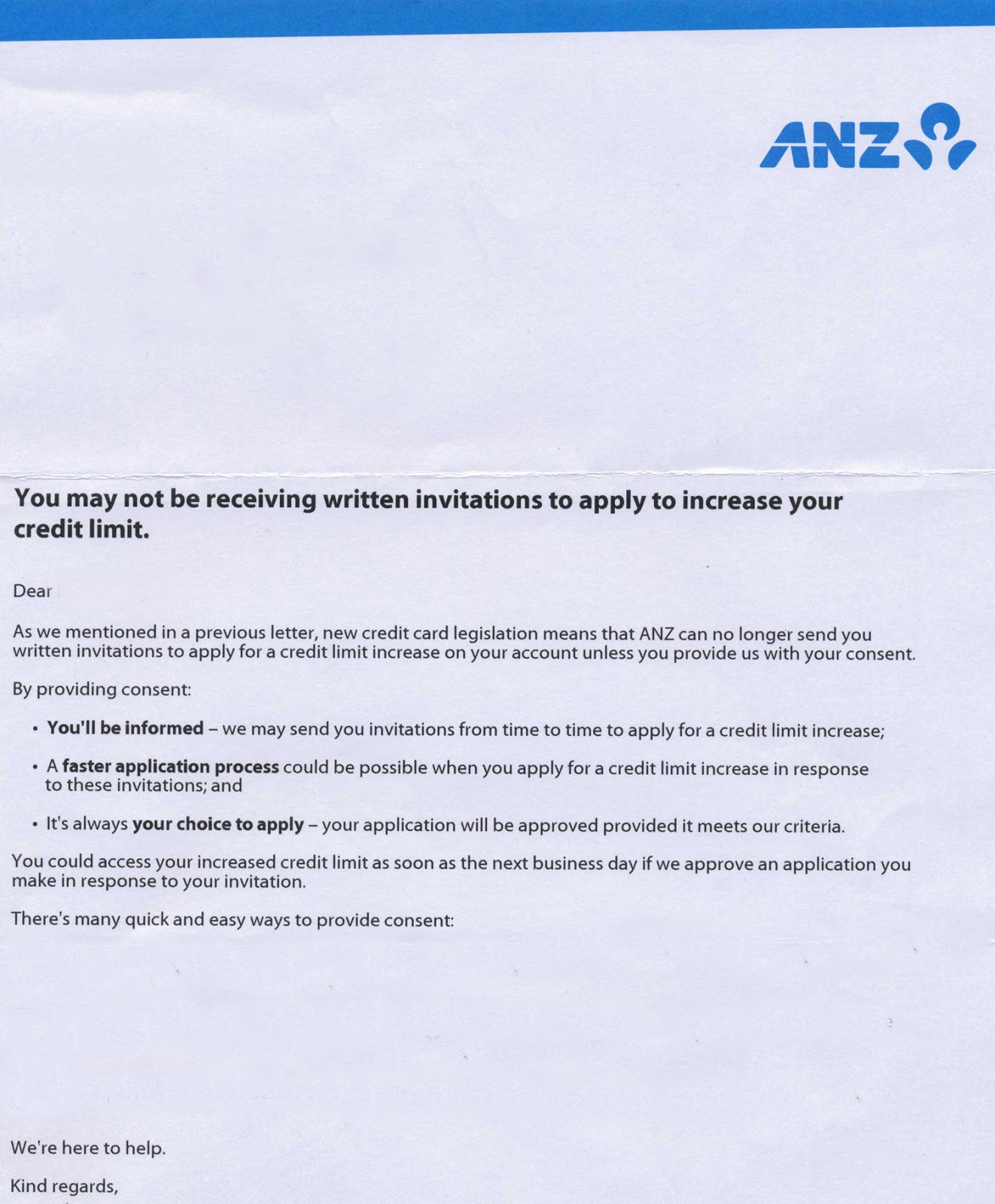 how to change anz card limit