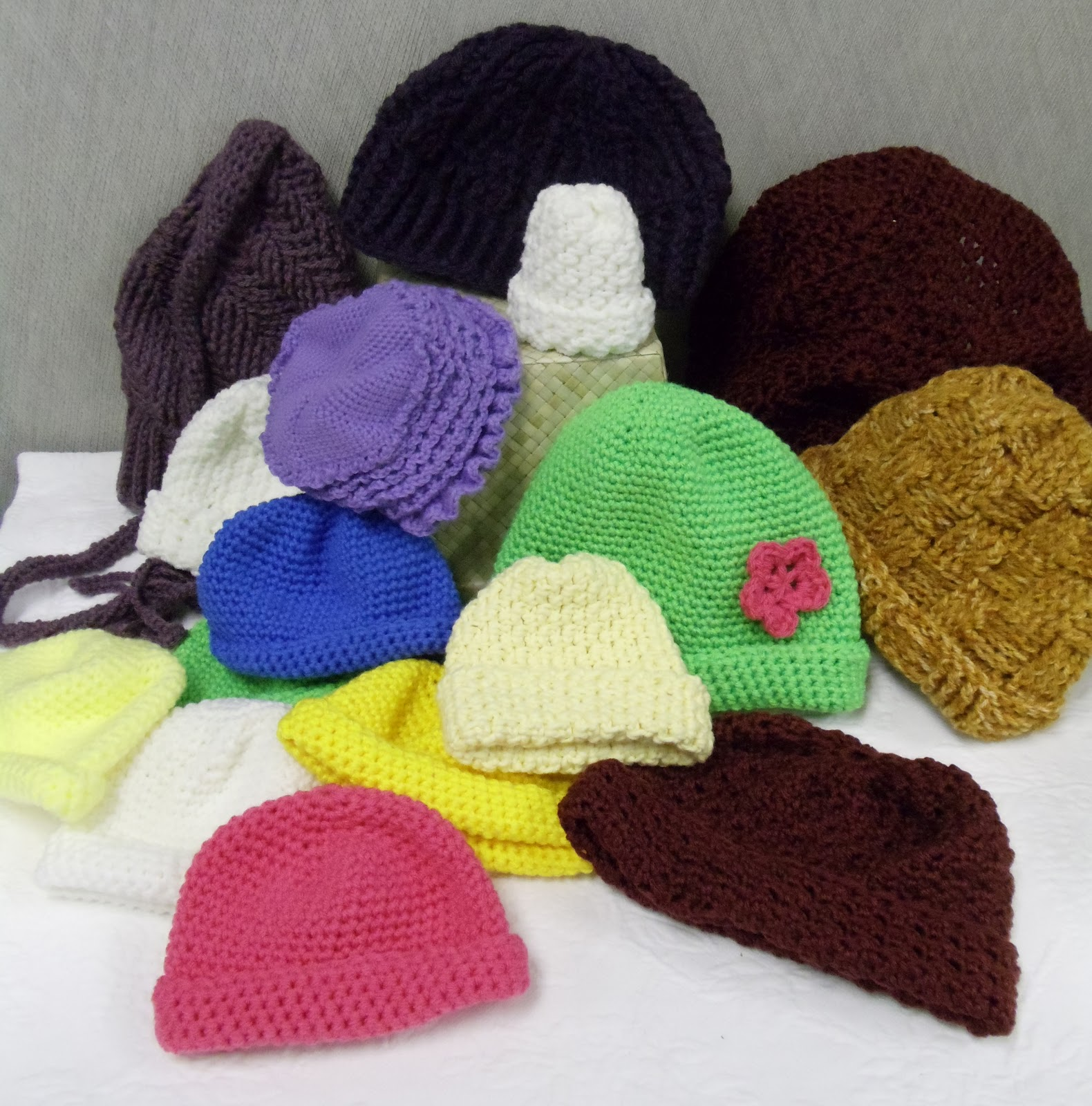 Crochet For Charity : Everyday Life at Leisure: Crocheted Hats for Charity