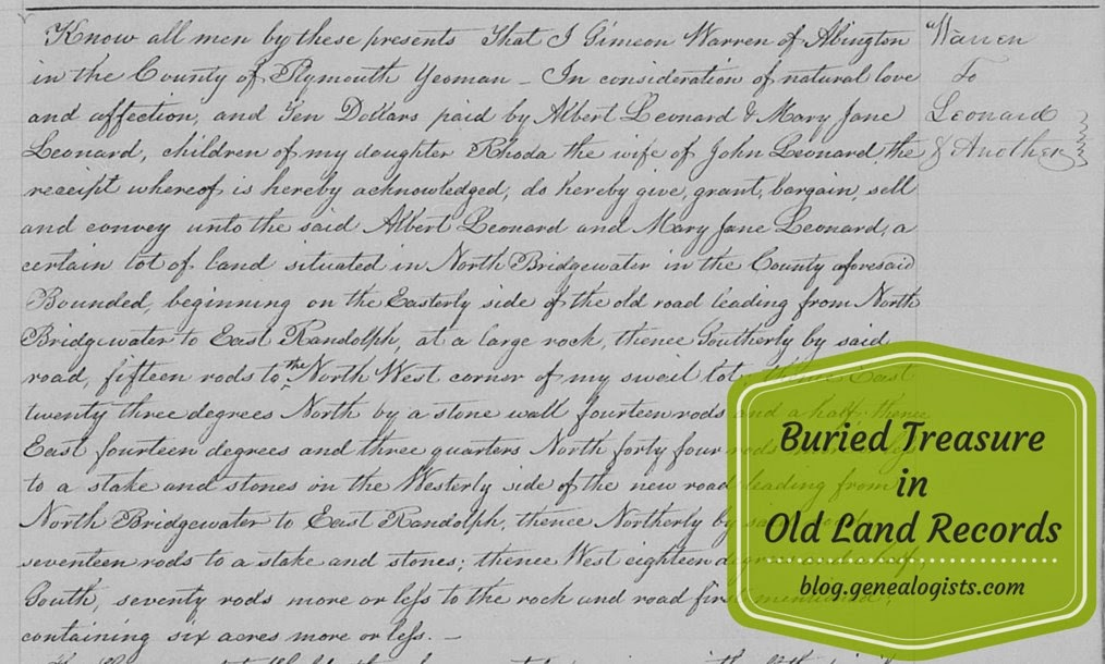 Land Records, Deeds, Genealogy, Family History