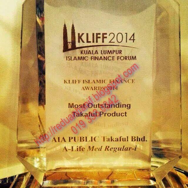 AIA Public Takaful sekali lagi memenangi The Most Outstanding Takaful Product KLIFF 2014