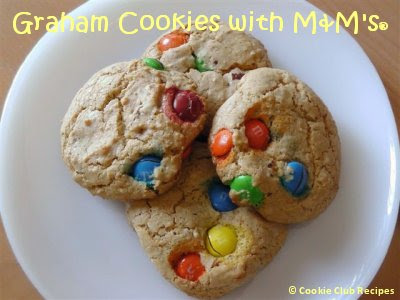 Graham Cookies with M and M's Candy Recipe by CookieClubRecipes