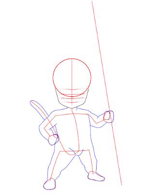 cara menggambar Goku kecil tahap 7