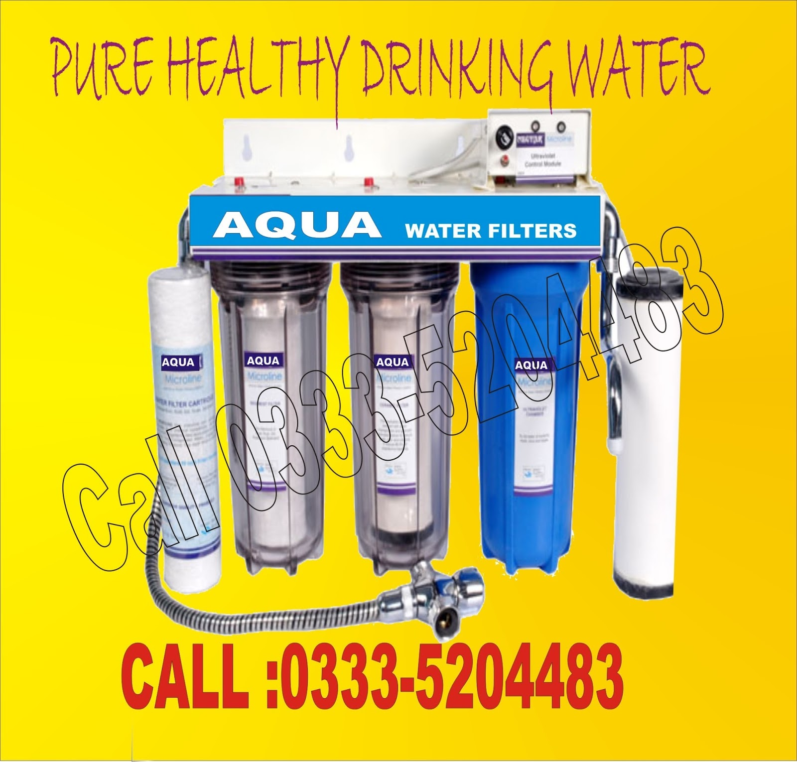 Aqua Water Filter Pakistan 3 Stages Triple Water