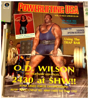 Powerlifting USA april 1989 cover O.D. Wilson