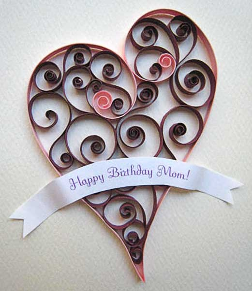 handmade quilled birthday cards ideas easy arts and crafts ideas – Birthday Cards Handmade Ideas