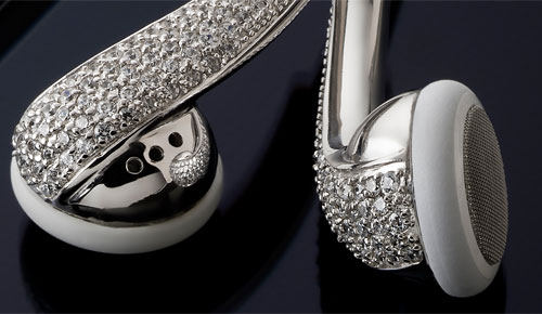Luxury Swarovski Diamond Earphones For Your Apple Gadgets By Amosu