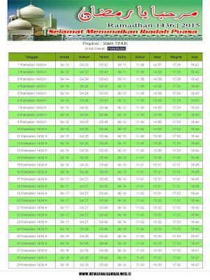 Jadwal Imsakiyah Ponorogo Ramadhan 1436 H