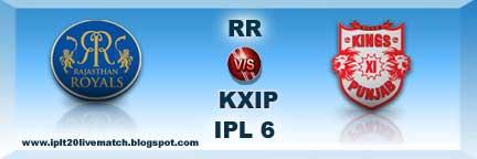 RR vs KXIP Live Streaming Video RR vs KXIP IPL Records