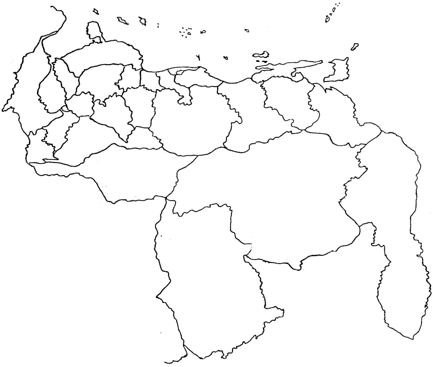 Mapas de Venezuela: Mapa de venezuela en blanco