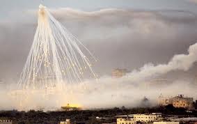 israel menjatuhkan bom bosfor di palestina
