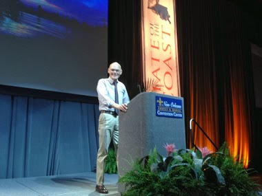 Political pundit James Carville speaks at the opening session of State of the Coast on Tuesday in New Orleans. (Credit: Mark Schleifstein, NOLA.com | The Times-Picayune) Click to enlarge.
