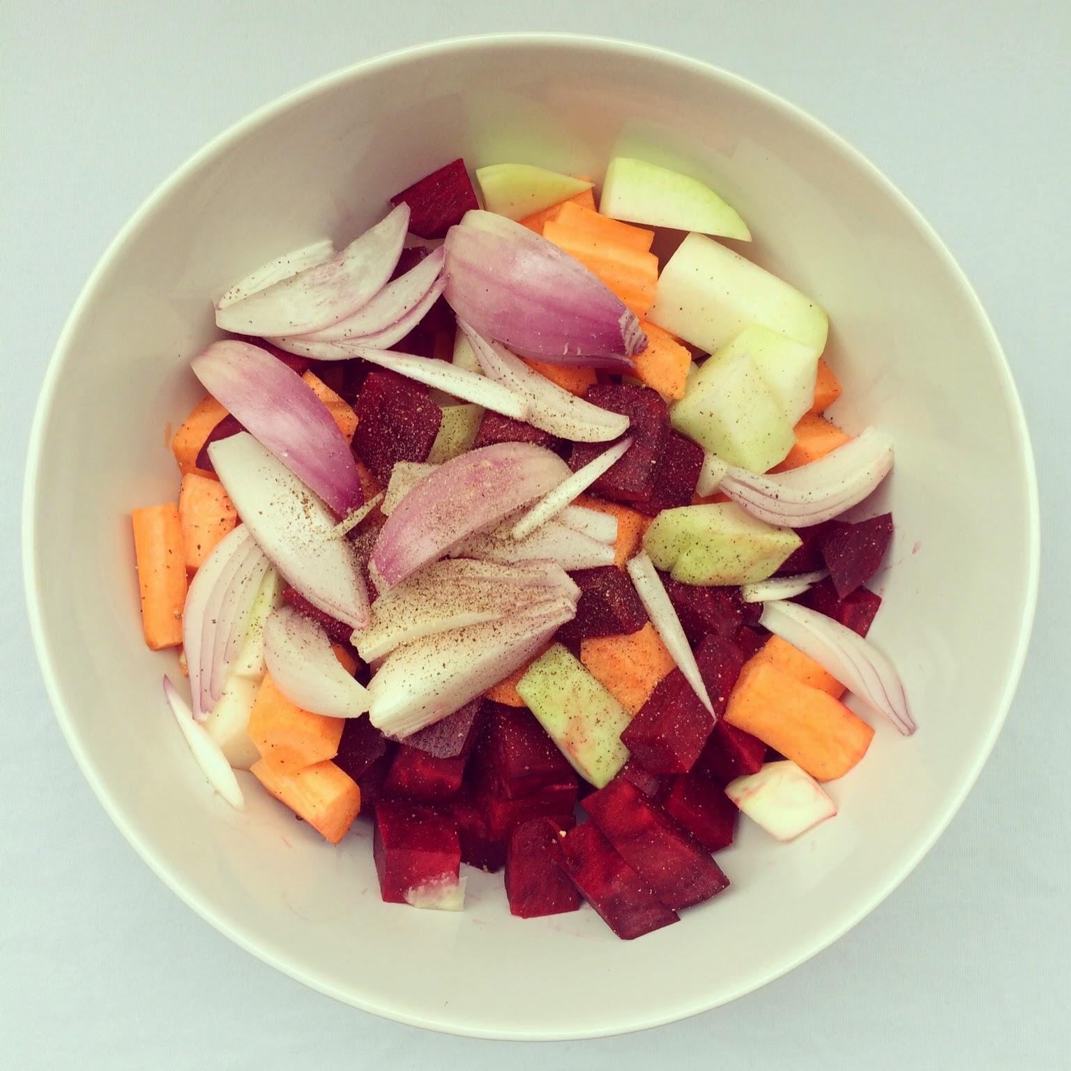 salade légumes racines à l'orange
