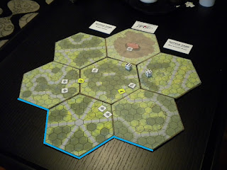 Battle Tank Hex Board Game Prototype